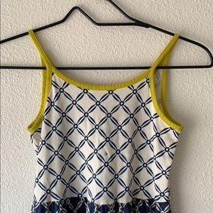 Girls Summer Dress Blue and white in size M (8).